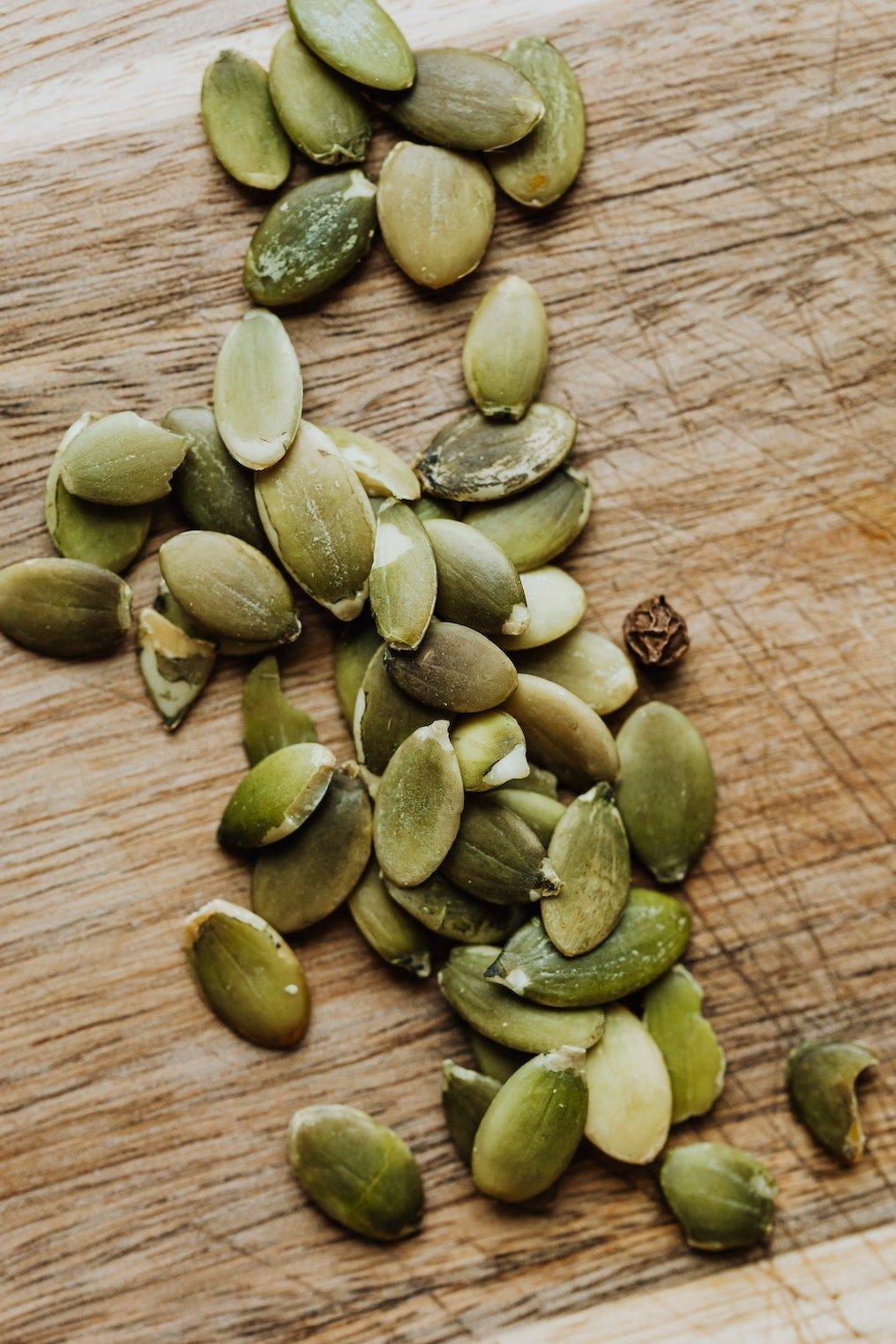 Pumpkin seeds, pepitas, raw, unsalted, nutritious, vitamins, minerals, healthy